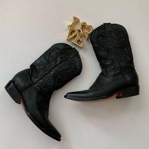 Shoes - Vaquero Boots Black Leather Size 7.5